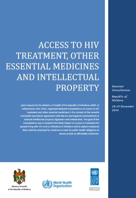 Access to HIV treatment, other essential medicines and intellectual property (2015)