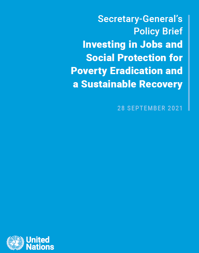 Investing in Jobs and Social Protection for Poverty Eradication and a Sustainable Recovery